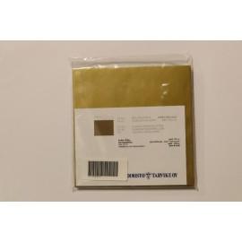 Kirjekuori 160x160mm Kulta 25 kpl