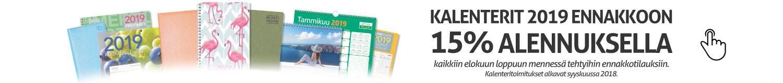 Kalenterit ennakkotilauksena 15% alennuksella!