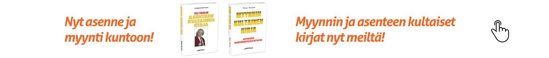 Kirjat aktiiviseen henkilökohtaiseen myyntiin ja asenteeseen.